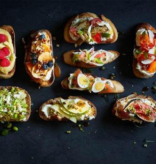 The open-faced sandwiches