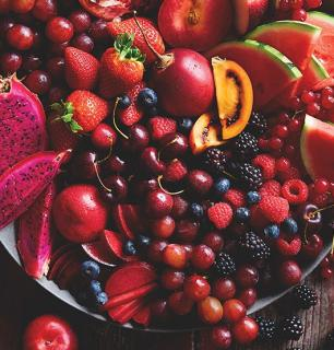 plateau de fruits rouges