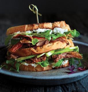 Duck club sandwich